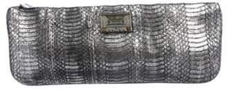 Corto Moltedo Embossed Leather Clutch Metallic Embossed Leather Clutch
