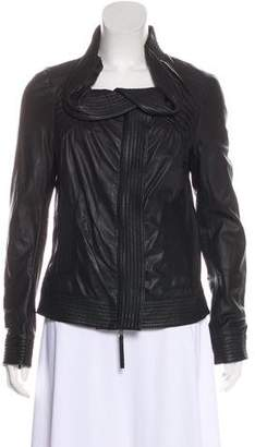 RED Valentino Leather Zip-Up Jacket