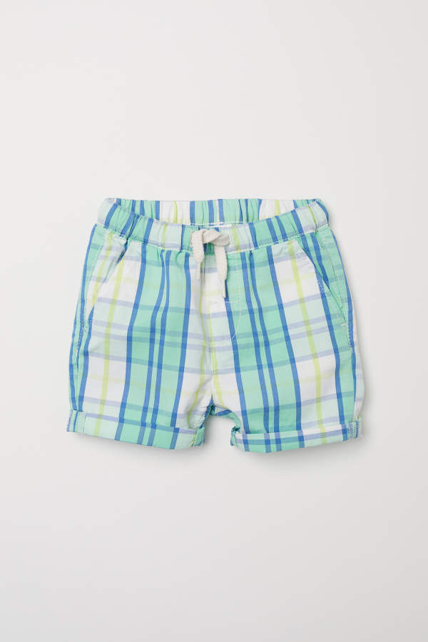 Checked Cotton Shorts