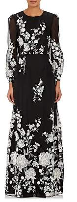 Co WOMEN'S EMBROIDERED MOUSSELINE GOWN