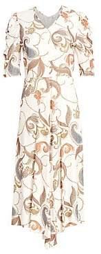 See by Chloe Women's Paisley Puff Sleeve Prairie Dress