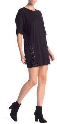 KENDALL + KYLIE Kendall & Kylie Side Lace-Up Tee Dress