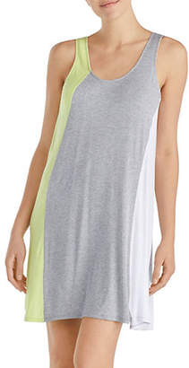 Donna Karan Sleeveless Colourblock Short Chemise