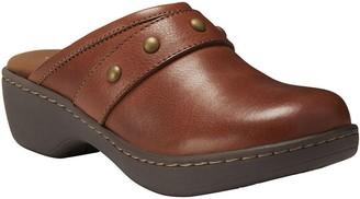 Eastland Leather Open Back Clogs - Gabriella
