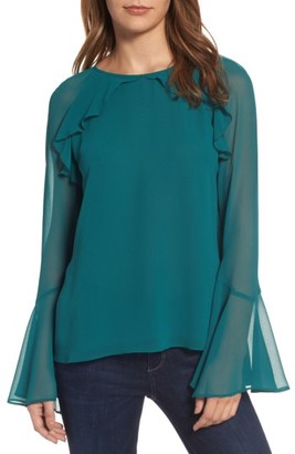 Women's Chelsea28 Ruffle Bell Sleeve Top $79 thestylecure.com