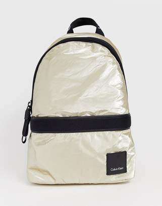 Calvin Klein fluid metallic backpack