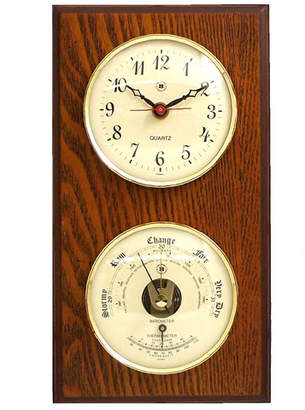Bey-Berk Wall Clock with Barometer and Thermometer