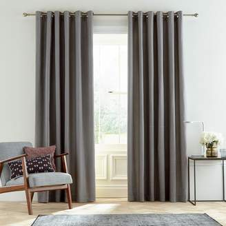 Amaya Bedeck 1951 - Grey Cotton Slub 'Amaya' Lined Curtains