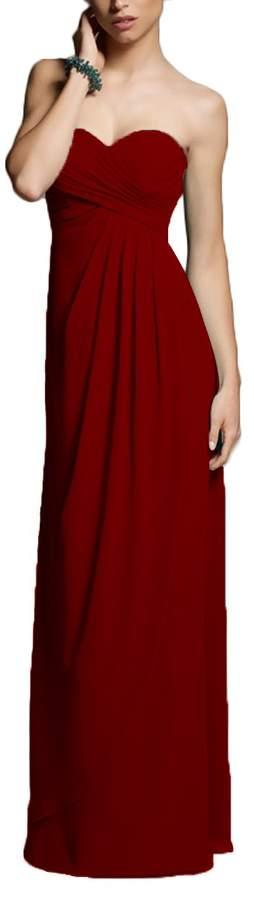 MaliaDress Long Sweetheart Chiffon Evening Bridesmaid Dress Party Prom Gown M282LF US