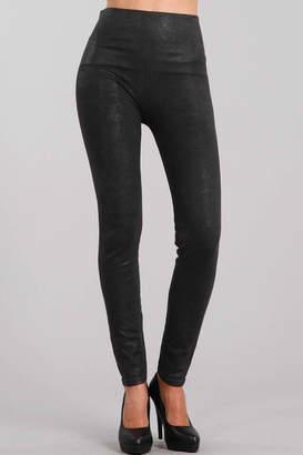 M Rena Denim Leggings with Glitter Sublimation Print