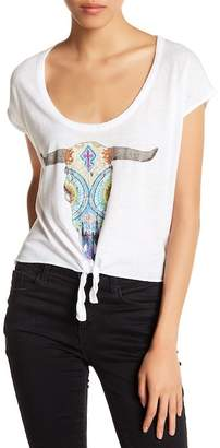 Chaser Front Tie Graphic Oversized Tee