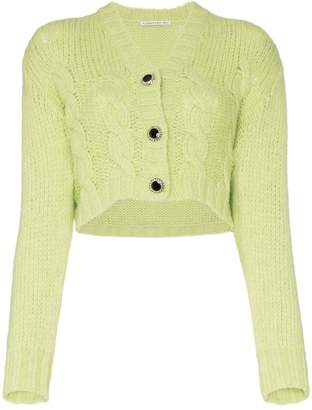 Alessandra Rich crop wool knit cardigan