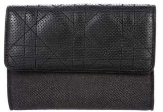 Christian Dior Perforated Compact Wallet