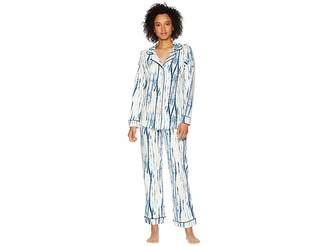 BedHead Indigo Dye Long Sleeve Shorts Pajama Set