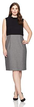 Nine West Women's Plus Size Contrast Sheath Dress