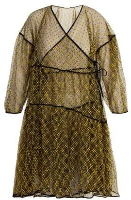 Cecilie Bahnsen - Christine Tiered Tulle Mini Dress - Womens - Black Multi