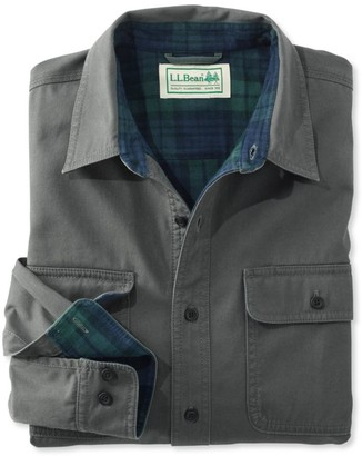 L.L. Bean L.L.Bean Men's Flannel-Lined Hurricane Shirt