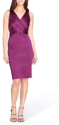 Tahari Pleated Body-Con Dress