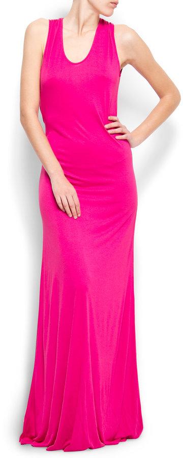Scoop back maxi-dress