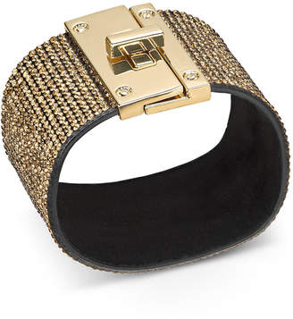 Thalia Sodi Gold-Tone Multi-Crystal Wrap Bracelet