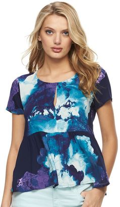 Women's Juicy Couture Floral Peplum Tee $40 thestylecure.com