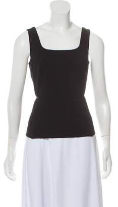 Charles Chang-Lima Sleeveless Scoop Neck Top Black Sleeveless Scoop Neck Top