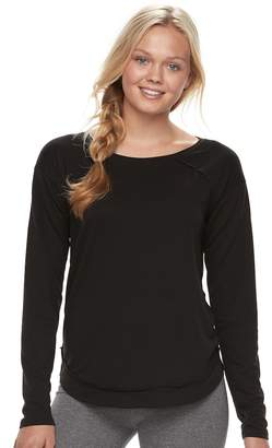 So Junior's SO Drapey Front Shirttail Pullover