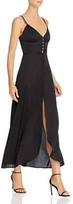 For Love & Lemons Isabella Satin Maxi Dress