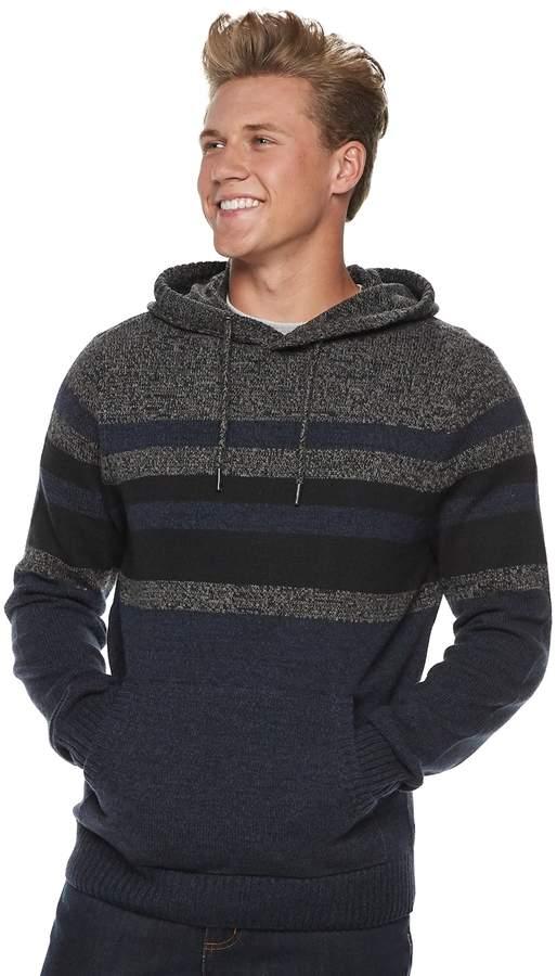 Ubran Pipeline Men's Urban Pipeline Striped Pull-Over Hoodie Sweater