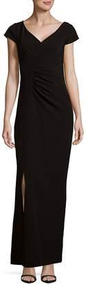 JS Collections Women's V-Neck Floor-Length Dress