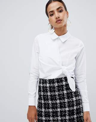 Fashion Union Shirt With Tie Front Detail