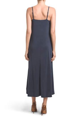 Pleated Neck Maxi Dress
