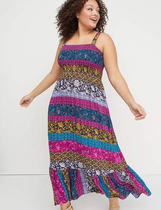 Lane Bryant Smocked Maxi Dress