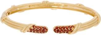 Peter Thomas Roth 18K Gold Garnet Pave Cuff Bracelet
