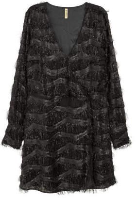 H&M Short fringed dress - Black