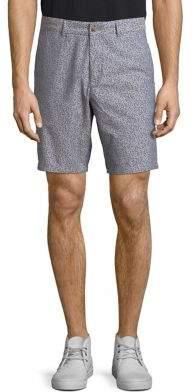 Black & Brown Black Brown Printed Cotton Shorts