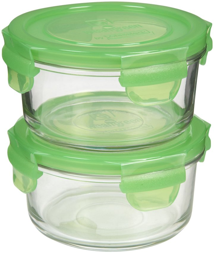 Wean Green Lunch Bowl Pea (Pack of 2) - 405ml-Green
