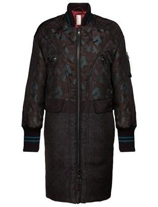 Antonio Marras Teal Jacquard Bomber Coat
