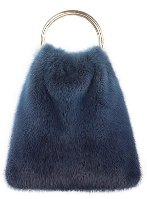 Simonetta Ravizza Furrissima Mink Top Handle Bag