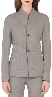 Akris Adissa Fil-A-Fil Reversible Wool Jacket