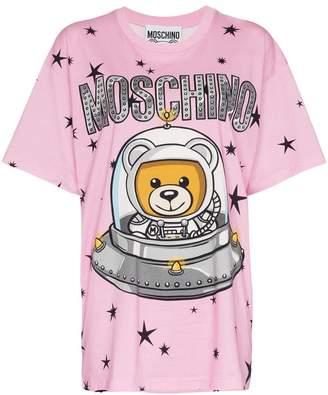 Moschino Space Teddy Bear Print T-Shirt