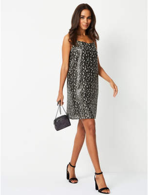 George Sequinned Animal Print Cami Dress ae5eb7168