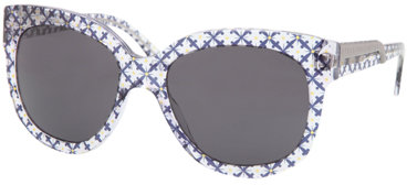 Stella McCartney Eyewear Round Plastic Sunglasses in Printed