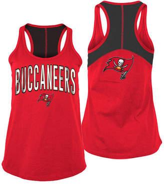 5th & Ocean Women's Tampa Bay Buccaneers Foil Colorblock Tank