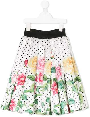 Love Made Love floral print full skirt