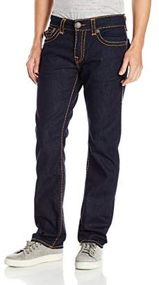 True Religion Men's Ricky Relaxed Straight Super T with Flaps