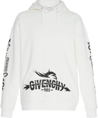 Givenchy Logo Graphic Cotton-Jersey Sweatshirt