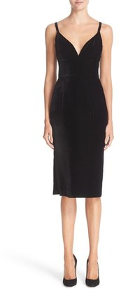 Women's Nordstrom Signature And Caroline Issa Velvet Cocktail Dress $799 thestylecure.com
