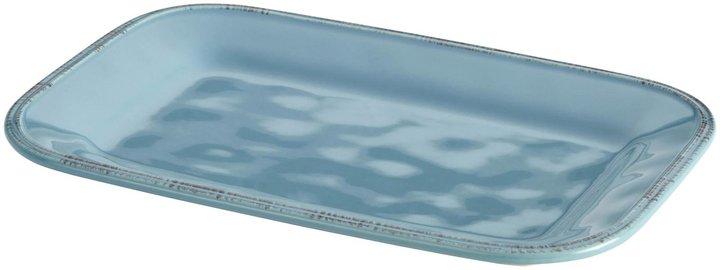 Rachael Ray Cucina Stoneware Rectangular Platter - Agave Blue