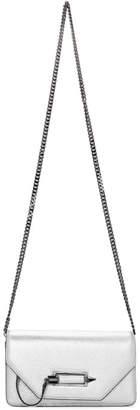 Mackage Silver Mini Zoey-C Crossbody Bag